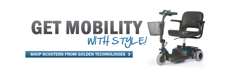 Get mobility with style! Click here to shop our selection of Golden Technologies scooters.