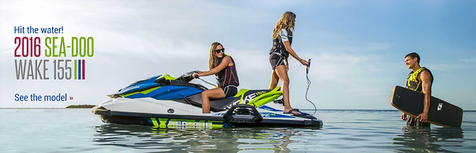 2016 Sea-Doo Wake 155: Click here to view the model.