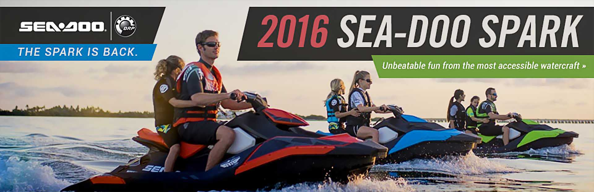 2016 Sea-Doo Spark: Click here to view the models.