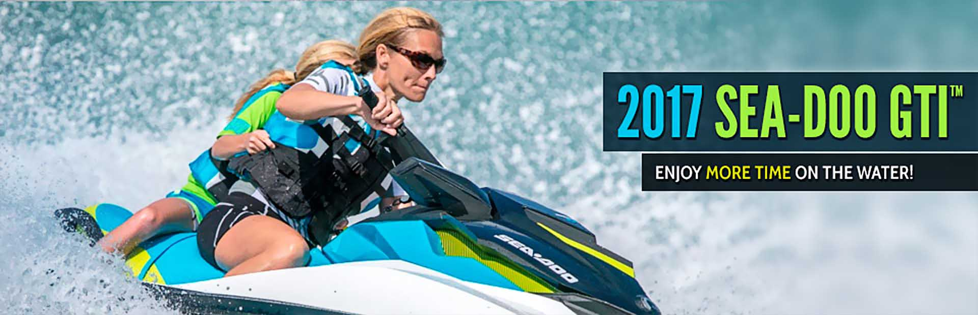 The 2017 Sea-Doo GTI™: Click here for details.