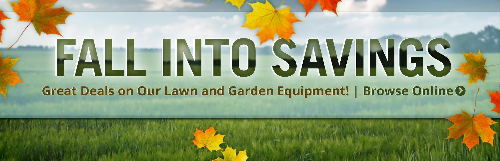 Browse great deals on lawn and garden equipment!