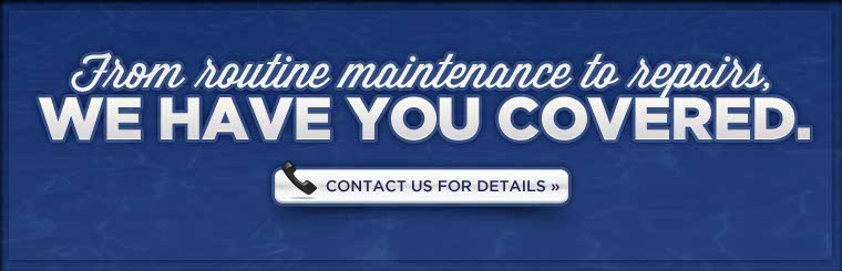 From routine maintenance to repairs, we have you covered. Contact us for details.