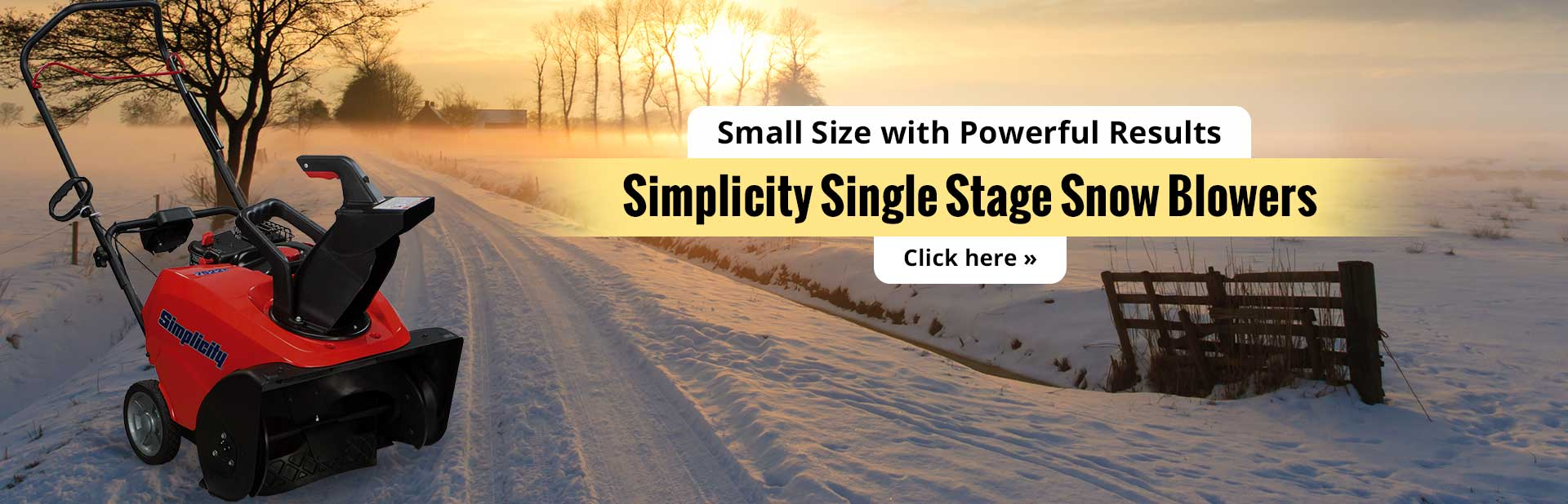 Simplicity single stage snow blowers are small in size, but they have powerful results! Click here t