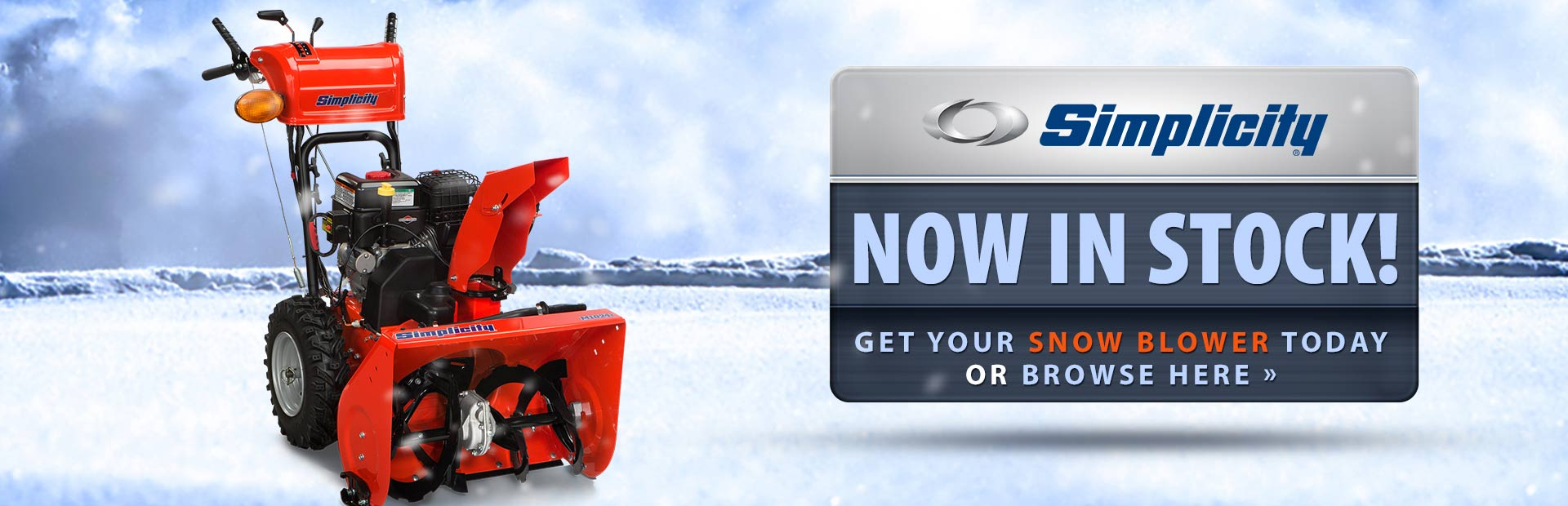 View in-stock Simplicity snow blowers.
