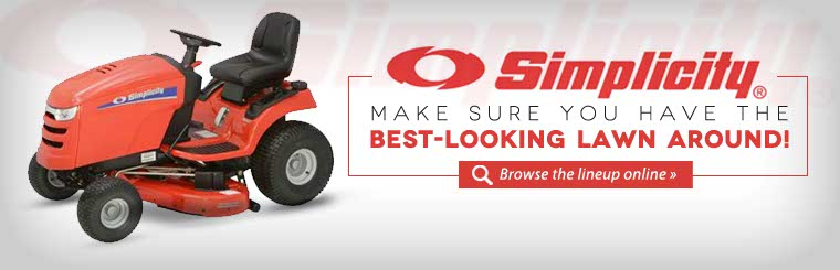 Click here to browse Simplicity lawn mowers!