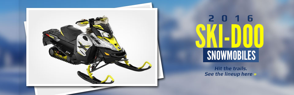 2016 Ski-Doo Snowmobiles: Click here to view the lineup.