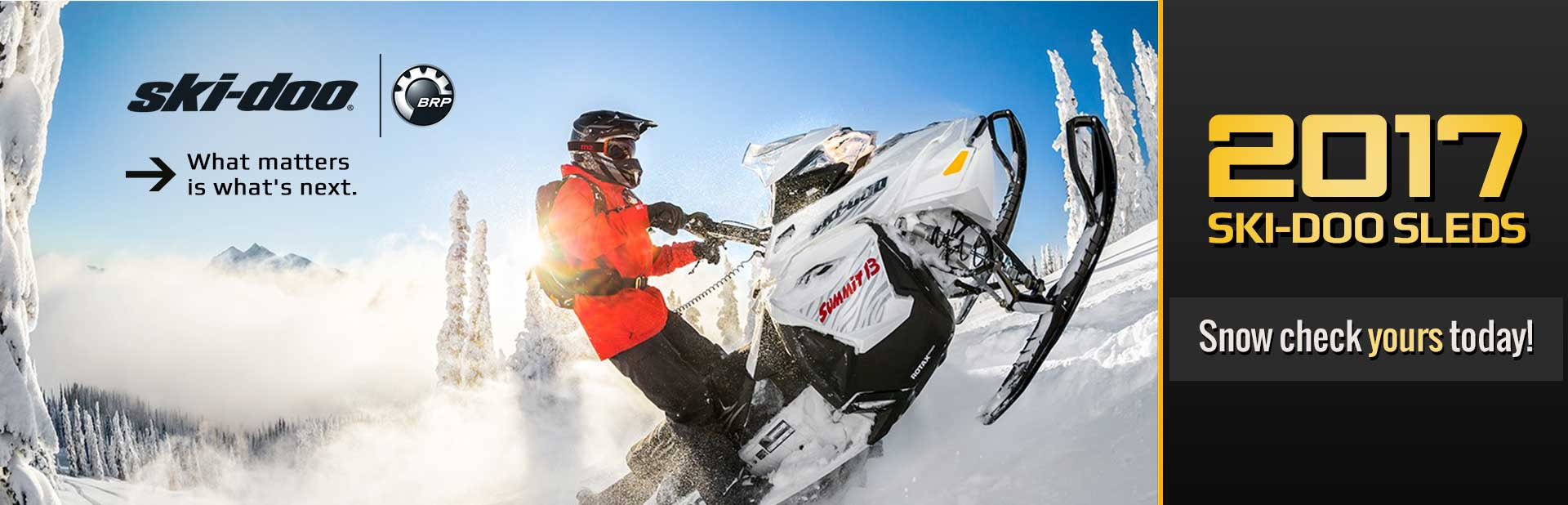 2017 Ski-Doo Sleds: Snow check yours today!