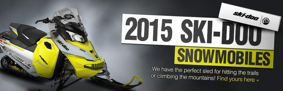 View the 2015 Ski-Doo snowmobiles.