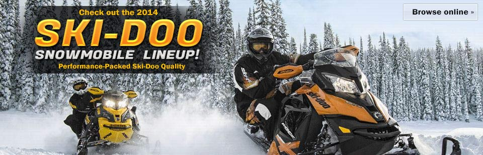 Click here to view the 2014 Ski-Doo snowmobile lineup.