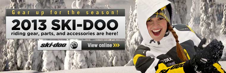 Click here to view new Ski-Doo riding gear, parts, and accessories.