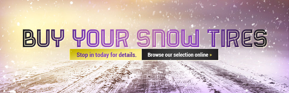 Buy Your Snow Tires: Browse our selection online.