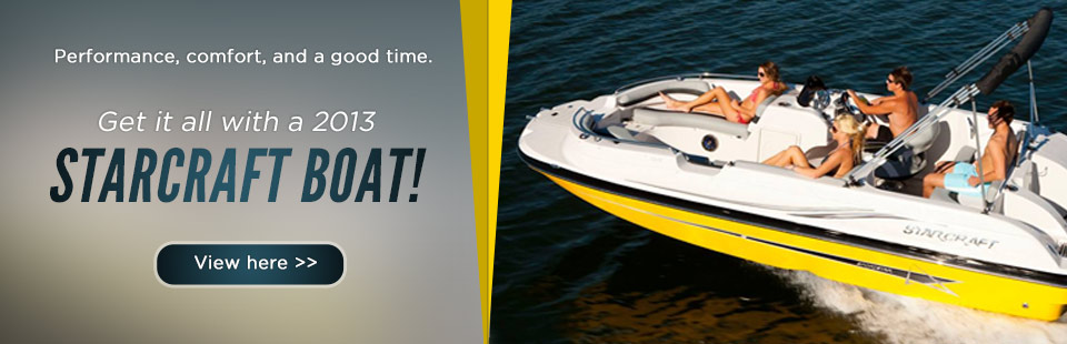 Click here to view the 2013 Starcraft boats.