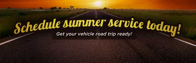 Get your vehicle road trip ready with summer service! Click here to learn more.