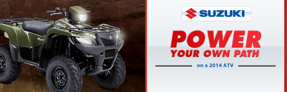 View the 2014 Suzuki ATVs.