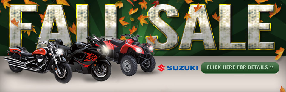 Suzuki Fall Sale: Click here for details!