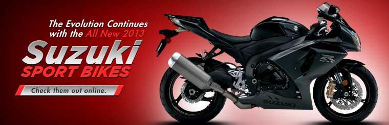 Click here to view the 2013 Suzuki sport bikes.