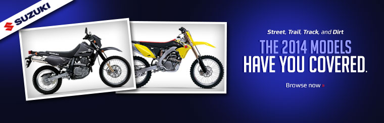 View the 2014 Suzuki dirt bikes.