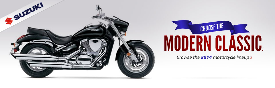 View the 2014 Suzuki cruisers.