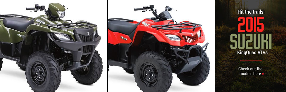 2015 Suzuki KingQud ATVs: Click here to view our selection!