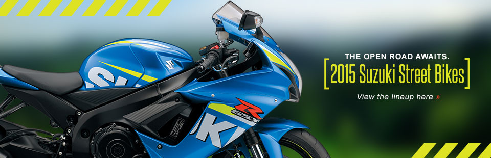 2015 Suzuki Street Bikes: Click here to view the models.