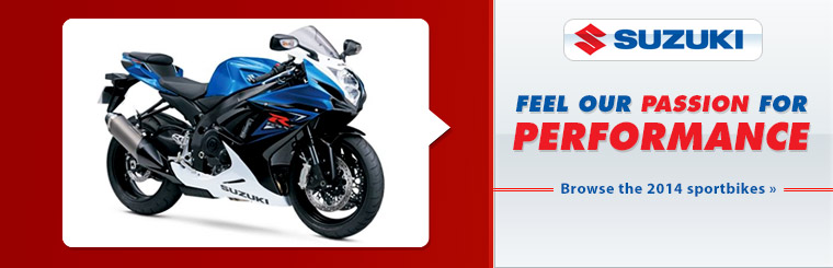 View the 2014 Suzuki street bikes.