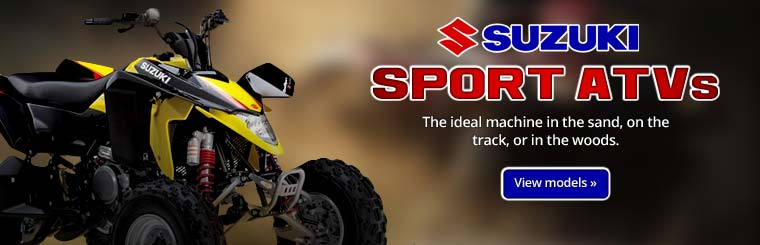 Click here to view the 2013 Suzuki sport ATVs.