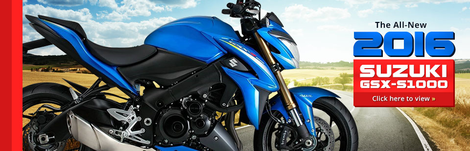 Click here to check out the 2016 Suzuki street bike lineup!