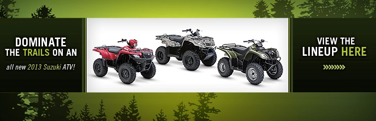 Click here to view the 2013 Suzuki ATVs.