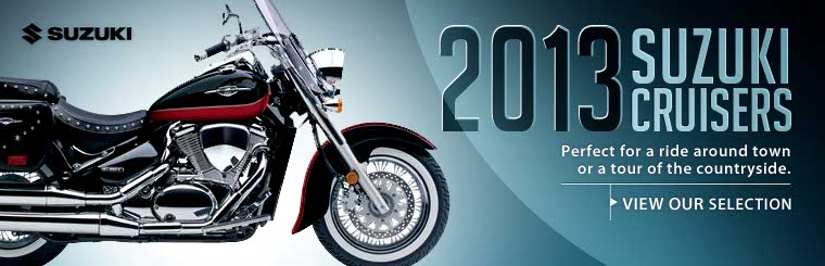 Click here to view the 2013 Suzuki cruisers.