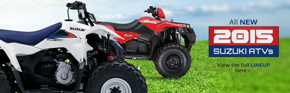 2015 Suzuki ATVs: Click here to view the lineup!