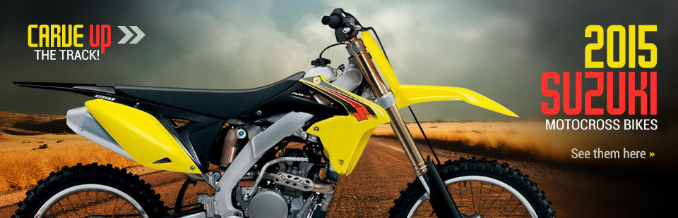 2015 Suzuki Motocross Bikes: Click here to view our selection!