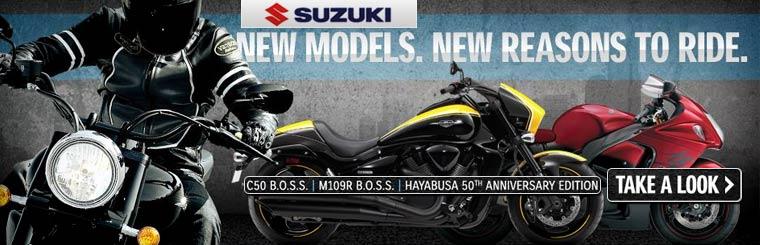View the 2014 Suzuki street bikes.
