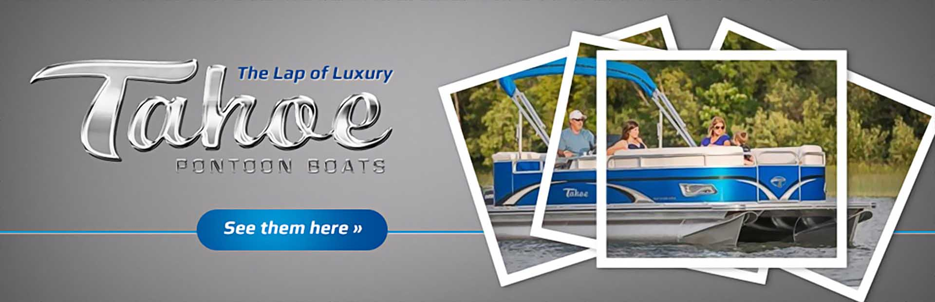 Sit in the lap of luxury with Tahoe pontoons! Click here to view our selection.