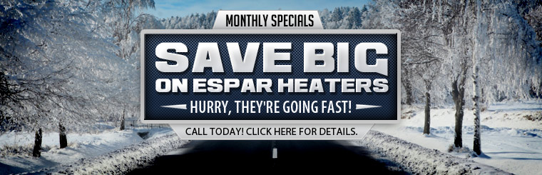 Espar Heaters: Call for pricing.