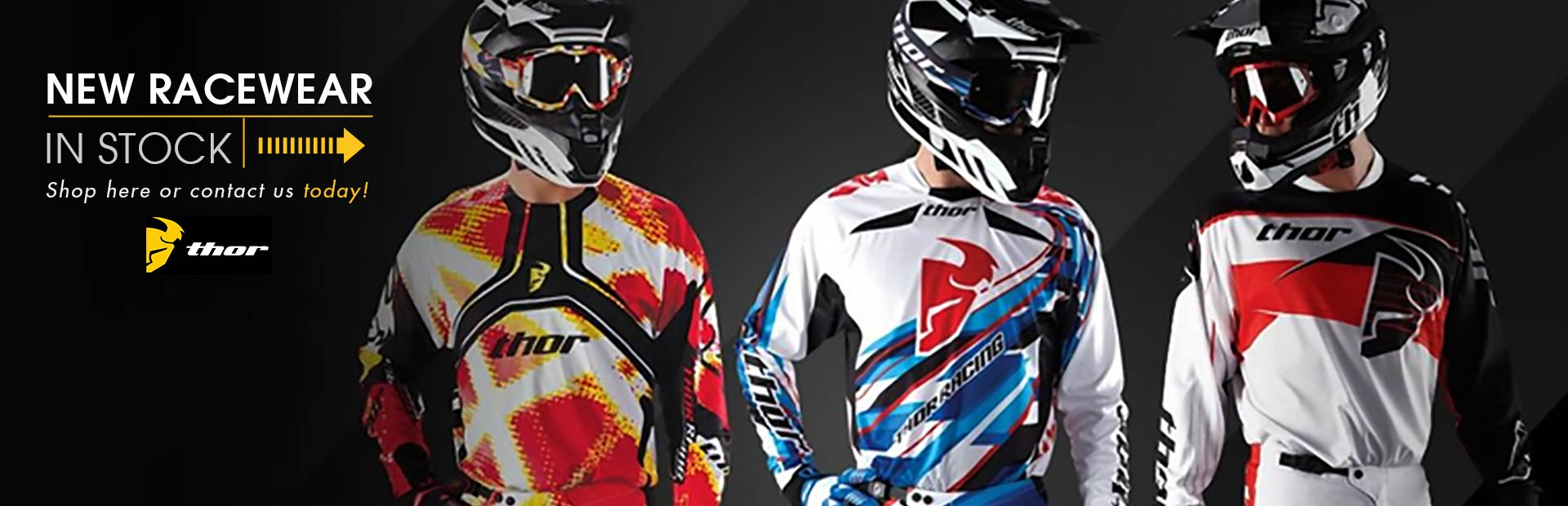 Click here to shop for new Thor Racewear.