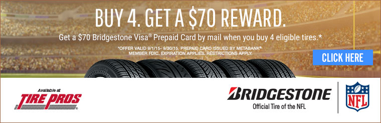 Tire Pros Bridgestone Offer: Click here for details.