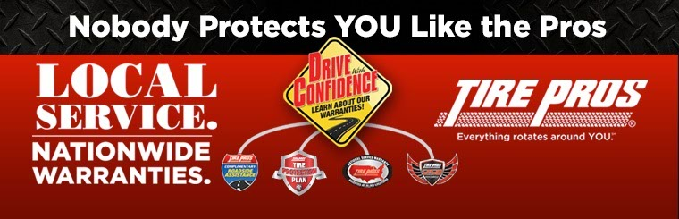 Local Service & Nationwide Warranties from Tire Pros: Click here for details.