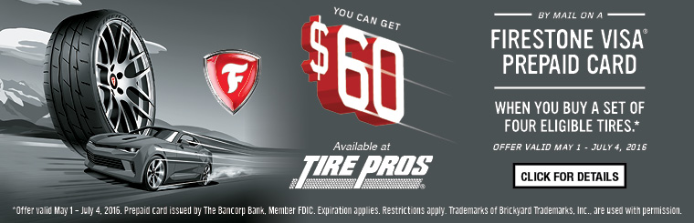 Tire Pros Firestone Offer: Click here for details.