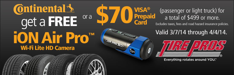 Continental Tire Offer: Click here for details.