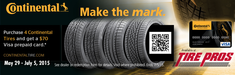 Tire Pros Continental Tire Special: Click here for details.