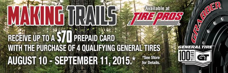 Tire Pros General Tire Offer: Click here for details.