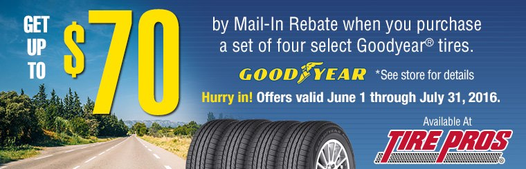 Tire Pros Goodyear Offer: Click here for details.