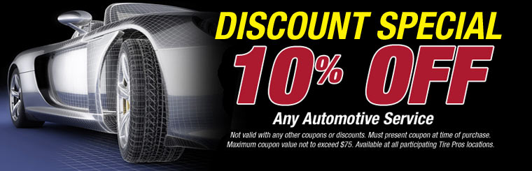 Receive 10% off any automotive service! Click here for details.