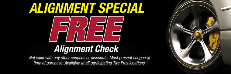 Receive a free alignment check! Click here for details.