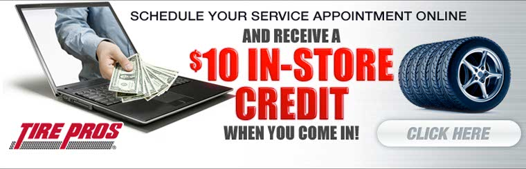 Schedule your service appointment online and receive a $10 in-store credit!