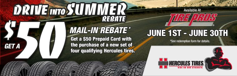 Tire Pros Hercules Offer: Click here for details.