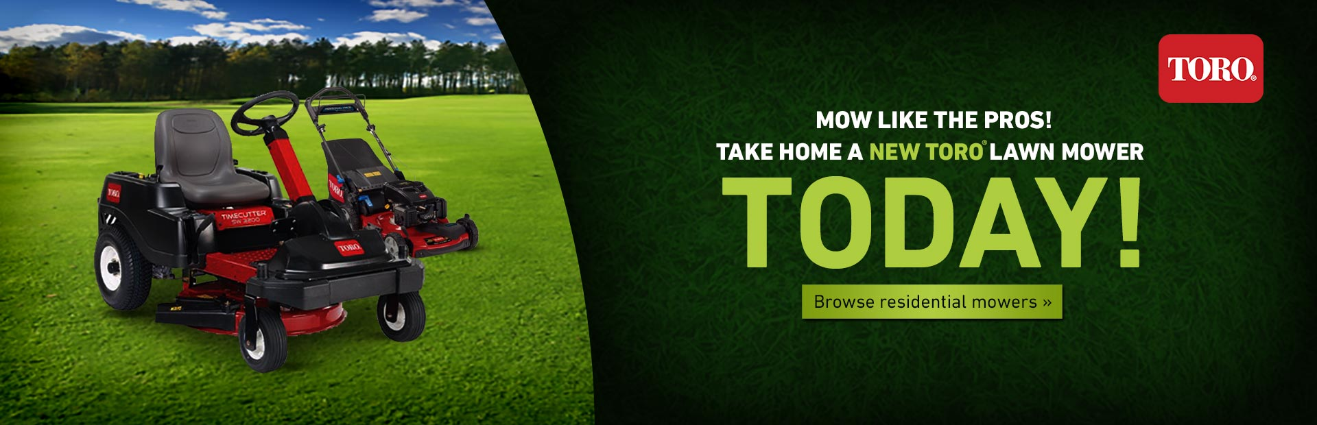 Click here to view Toro residential mowers!