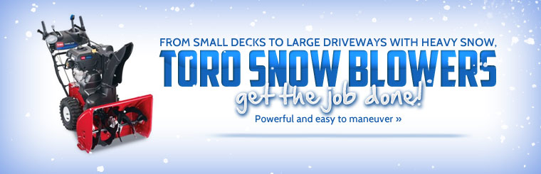 Click here to view Toro snow blowers.