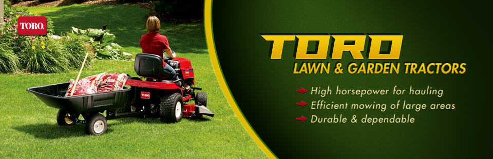 Click here to view Toro lawn and garden tractors.