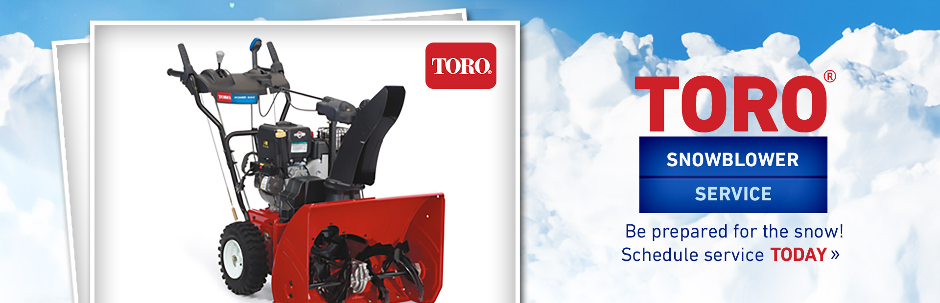 Toro Snowblower Service: Click here to view our service list!